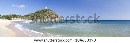 Chia beach (Sardinia,Italy) - stock photo