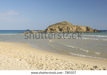 Chia beach, south of Sardinia, Italy