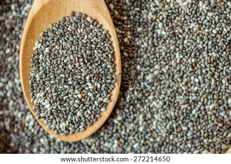 Chia seed healthy superfood.