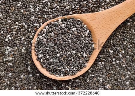 chia seeds - stock photo