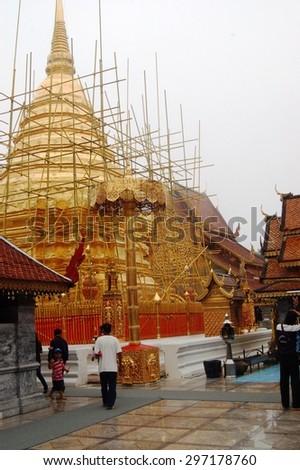 Chiang Mai, Thailand - Aug, 14: Wat Phra That Doi Suthep on August, 14, 2008.  Chiang Mai, Thailand  - stock photo