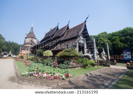 CHIANG MAI, THAILAND - JANUARY 29 2014 : Wat LokMolee, Old temple of Burma art in chiangmai. Build about in 1367,The sixth king of the Mengrai dynasty. Chiangmai, Thailand. - stock photo