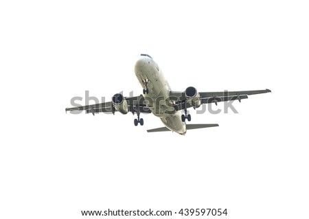 Chiang Mai Thailand -May 20: Airlines. Landing to Chiangmai airport 20/05/2016 Place airspace in Chiang mai Thailand - stock photo