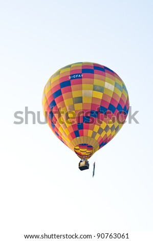 CHIANG MAI, THAILAND - NOV 27 : Balloon floating to sky during Thailand international balloon festival 2011 at Prince Royal's college in Chiang Mai, Thailand on Nov 27, 2011.