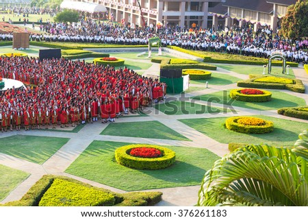 CHIANG-RAI THAILAND-FEB 9:Graduate successfully graduated from the University on February 9,2016 at Mae Fah Luang University in Chiang Rai Thailand