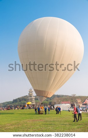 CHIANG RAI, THAILAND February 11, 2016 : The International Balloon Festival 2016 took place between 11th February at Singha Park Chiang Rai. (Chiangrai, Thailand)