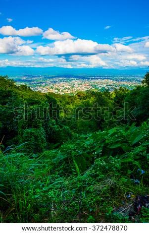 Chiangmai city at view point, Thailand. - stock photo