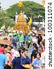 CHIANGMAI THAILAND-APRIL 13:Chiangmai Songkran festival.The tradition of bathing the Buddha Phra Singh marched on an annual basis. With respect to faith.on April 13,2012 in Chiangmai,Thailand. - stock photo