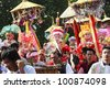 CHIANGMAI, THAILAND-APRIL 1:Poi Sang Long festival, A Ceremony of unidentified boys to become novice monk, during in parade around township on April 1, 2011 in Chiangmai, Thailand. - stock photo