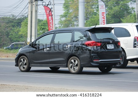 CHIANGMAI, THAILAND -APRIL 10 2016:  Private Honda Mobilio van. Photo at road no.121 about 8 km from downtown Chiangmai, thailand.
