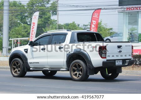 CHIANGMAI, THAILAND -APRIL 25 2016: Private Pickup car, Ford Ranger. On road no.1001, 8 km from Chiangmai city.