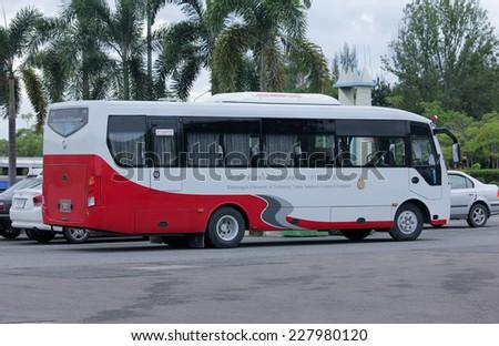 CHIANGMAI, THAILAND-AUGUST 9 2012 : School bus of  Rajamangala University of Technology Lanna (Chiangmai). Photo at Chiangmai, thailand. - stock photo