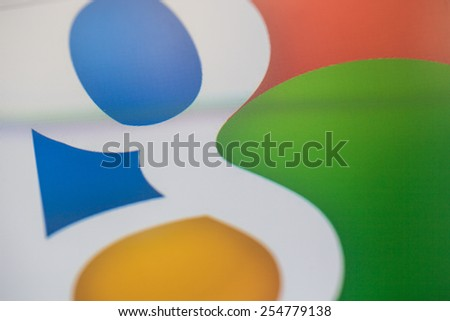 CHIANGMAI, THAILAND -FEBRUARY 22, 2015: Google is an American multinational corporation specializing in Internet-related services and products. Most of its profits are derived from AdWords. - stock photo