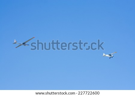 CHIANGMAI, THAILAND -JANUARY 12 2008: Private aircraft HS-OAR, LET L-13 Blan�­k. Photo at Chiangmai international airport. Chiangmai, thailand. - stock photo