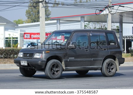 CHIANGMAI, THAILAND -JANUARY 19 2016:  Private Mini Suv car, Suzuki Vitara. Photo at road no 121 about 8 km from downtown Chiangmai, thailand.