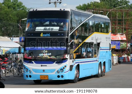 CHIANGMAI, THAILAND- JULY 12 2008: Chan tour company bus no. 20-9 route Bangkok and Khonkaen. Photo at Chiangmai bus station, thailand.