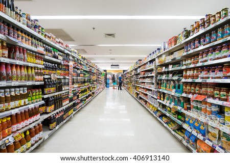 Chiangmai, Thailand - JUNE 3: BigC supermarket interior view on June 3th 2015 in Chiangmai. BigC is a large supermarket chain in Thailand.