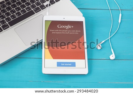 CHIANGMAI, THAILAND -JUNE 30, 2015:iPhone opened to Ebay homepage. Ebay, an online auction and shopping site, was founded in 1995. - stock photo