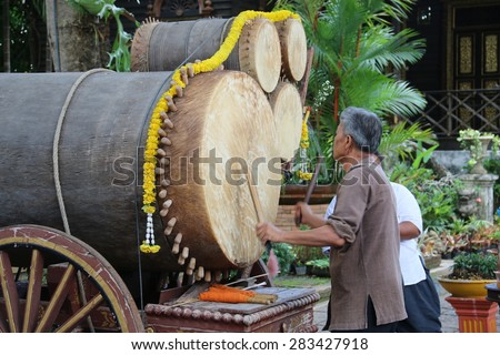 CHIANGMAI, THAILAND - JUNE 1 2015: Thai actress working in Tamil Nadu dasin wisakha bucha day, Chiang Mai Province. Thai country. When June 1 2015