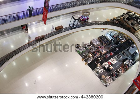 CHIANGMAI, THAILAND -MARCH 25 2016:  Inside of Central Festival Chiangmai. New Business Plaza of Chiangmai. About 3 Km. from Chiangmai City, Thailand.