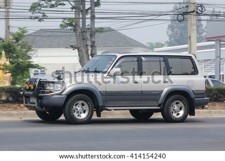 CHIANGMAI, THAILAND -MARCH 31 2016:    Private car, Toyota Land Cruiser. On road no.1001, 8 km from Chiangmai city.