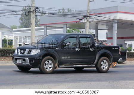 CHIANGMAI, THAILAND -MARCH 15 2016: Private Nissan Pick up car. Photo at road no 121 about 8 km from downtown Chiangmai, thailand.