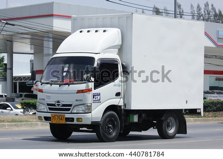 CHIANGMAI, THAILAND -MAY 26 2016:  JSN Transport Company Cargo truck. Photo at road no.1001 about 8 km from downtown Chiangmai, thailand.