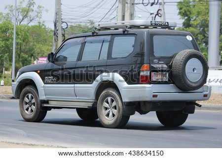 CHIANGMAI, THAILAND -MAY 16 2016:  Private car, Toyota Land Cruiser. On road no.1001, 8 km from Chiangmai city.