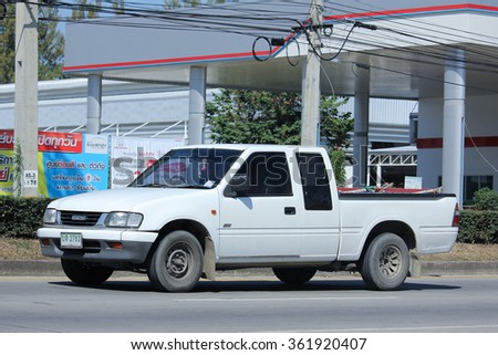 CHIANGMAI, THAILAND -NOVEMBER 6 2015:   Private  Isuzu Pickup Truck. Photo at road no 121 about 8 km from downtown Chiangmai, thailand.