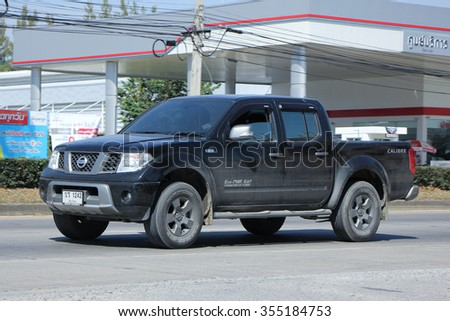 CHIANGMAI, THAILAND -NOVEMBER  1 2015: Private Pickup car, Nissan Frontier. Photo at road no 121 about 8 km from downtown Chiangmai, thailand.