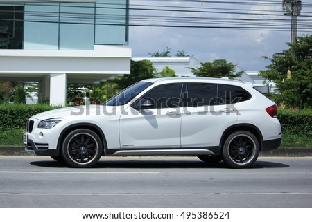 CHIANGMAI, THAILAND - OCTOBER 2  2016: Private Car. Bmw X3. Photo at road no.1001 about 8 km from downtown Chiangmai, thailand.