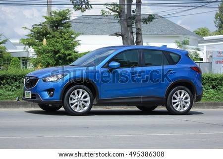 CHIANGMAI, THAILAND - OCTOBER 2  2016:  Private car, Mazda CX-5,cx5. On road no.1001, 8 km from Chiangmai city.