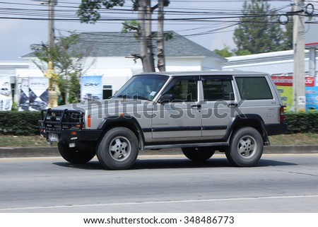 CHIANGMAI, THAILAND -OCTOBER  24 2015:  Private jeep car. Photo at road no.121 about 8 km from downtown Chiangmai, thailand.