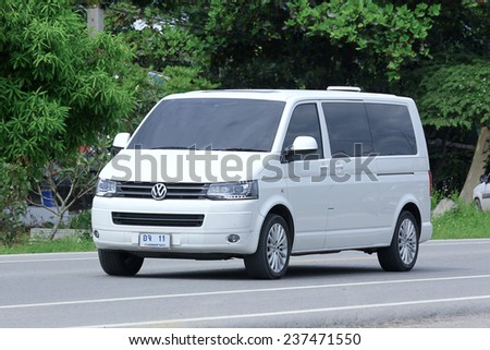 CHIANGMAI, THAILAND -OCTOBER 6 2014: Private van. Photo at road no.121 about 8 km from downtown Chiangmai, thailand. - stock photo