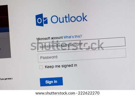 CHIANGMAI, THAILAND - OCTOBER 10, 2014: Windows home page as seen on computer on October 10, 2014 - stock photo