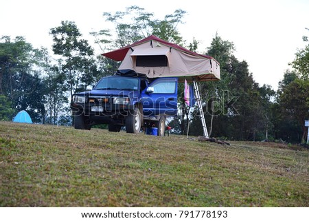 CHIANGRAI THAILAND - 26 DECEMBER 2017 C&ing with a Toyota Hilux 4x4 and roof  sc 1 st  Shutterstock & Roof Top Tent Stock Images Royalty-Free Images u0026 Vectors ...