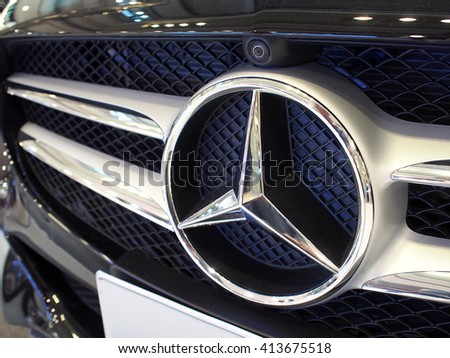 Mercedes benz logo stock images royalty free images for Plaza mercedes benz