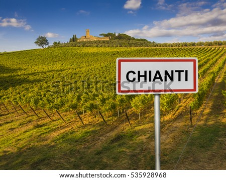 Chianti wine region of Tuscany, Italy