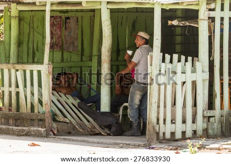 Chiapas, Mexico: 24 March, 2015. People in village, Chiapas, Mexico - stock photo