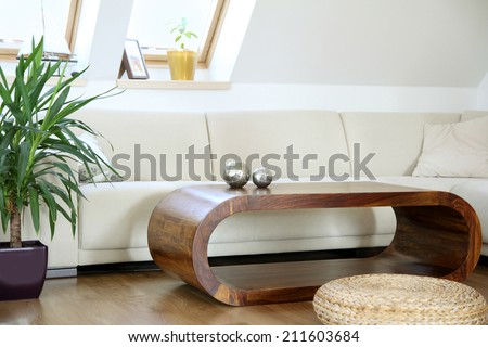 chic living room - stock photo