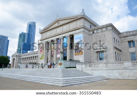 CHICAGO - AUGUST 15: Chicago's Field Museum of Natural History, shown on August 15, 2015, has a collection of over 24 million specimens, and hosts over 2 million visitors a year.