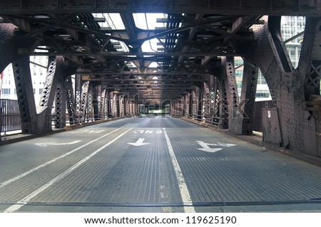 Chicago bridge - stock photo