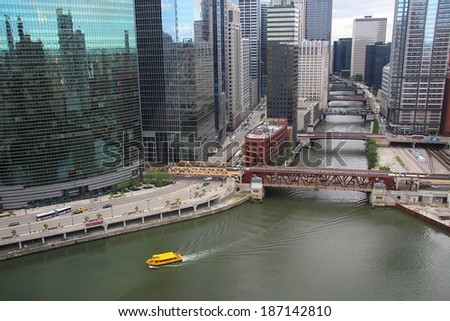 Chicago bridges - stock photo