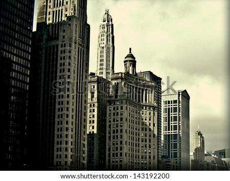 Chicago city - stock photo
