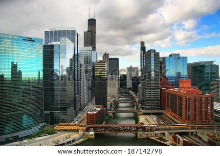 Chicago cityscape - stock photo