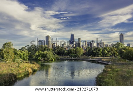 Chicago Downtown skyline  - stock photo