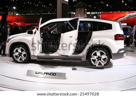CHICAGO-FEBRUARY 18: The Chevrolet Orlando concept is a compact, seven-seat multi-purpose vehicle with the versatile attributes of a sport-utility displayed at the Autoshow 2009 on February 18, 2009 in Chicago