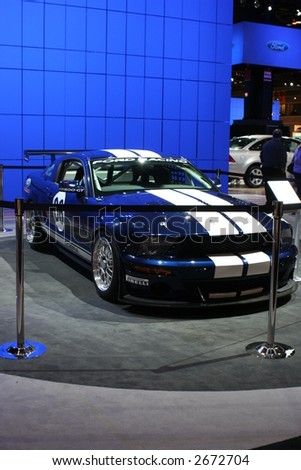 CHICAGO - FEBRUARY 10 :The Ford Mustang GT COUPE displayed at Chicago Auto Show on February 10, 2007 - stock photo