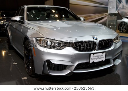 CHICAGO, IL - FEBRUARY 15: BMW 2 SERIES COUPE at the annual International auto-show, February 15, 2015 in Chicago, IL