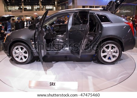 CHICAGO, IL - FEBRUARY 21: Cadillac concept SRX at the International auto-show, February 21, 2010 in Chicago, IL